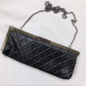 Jessica McClintock Quilted Leather Clutch